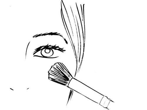 маскировка областей под глазами