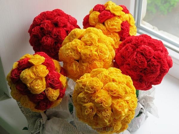 Цветы своими руками из салфеток фото