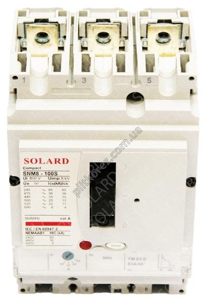 Автоматический выключатель с регулировкой серии SNM8